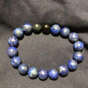 Jewelry - Handmade Lapis Lazuli/ Blue Tiger Eye bracelet